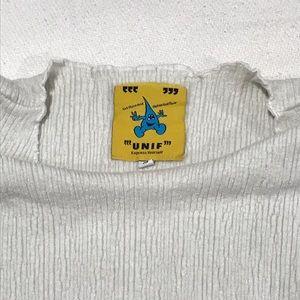 UNIF Tops - Sold!vintage white crop long sleeve top